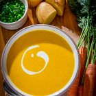 Carrot Soup with Cream - Food Photography © David Cantwell Photography© David Cantwell Photography