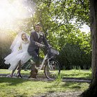 Bride & Groom ln a Bike For Clayton Hotel Group - Lifestyle Photography © David Cantwell Photography