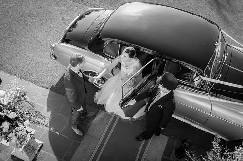 Bride & Groom @ The County Arms Hotel © David Cantwell Photography