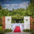 Outdoor Summer Civil Ceremony  - Seasonal Commercial Photography © David Cantwell Photography