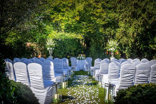 Outdoor Civil Ceremony in The Secret Garden@ Portmarnock Hotel © David Cantwell Photography