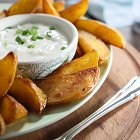 BBQ Potatoe Wedges & Dip - Food Photography © David Cantwell Photography